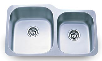 60/40 16 Gauge Stainless Under Mount Sink