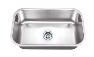 Big Single Bowl 16 Gauge Stainless Under Mount Sink