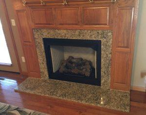 Granite Fireplace at Edge Stoneworks
