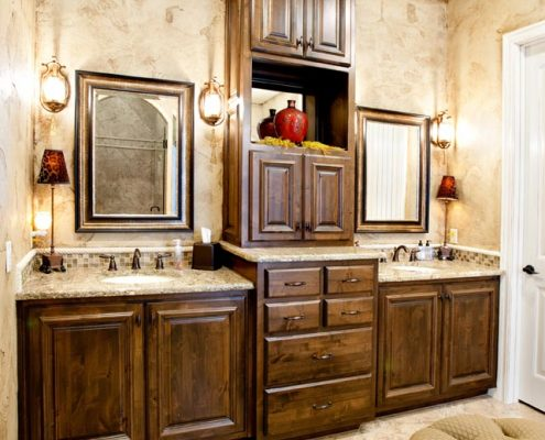 Granite Vanity Giallo Ornamental at Edge Stoneworks