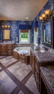 New Azual Aran Granite Vanity Master Bath at Edge Stoneworks