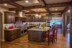 Typhoon Bordeaux Granite Countertop Kitchen at Edge Stoneworks