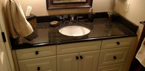 Uba Tuba Granite Vanity at Edge Stoneworks