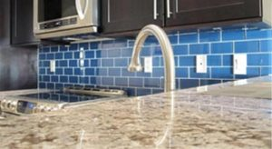 Blue Countertop by Edge Stoneworks