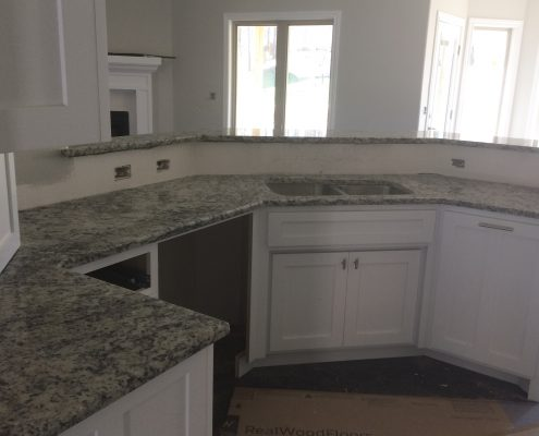 Full size kitchen countertops at Edge Stoneworks