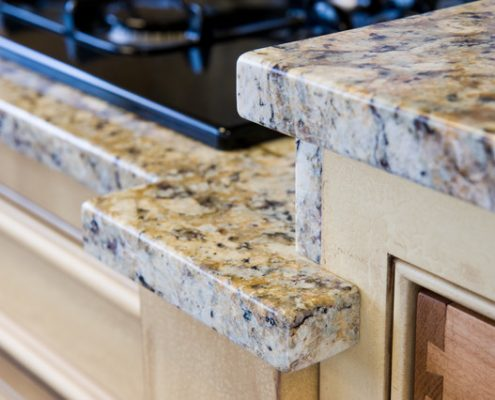 Granite kitchen platform by Edge Stoneworks
