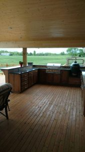 Outside kitchen countertops by Edge Stoneworks