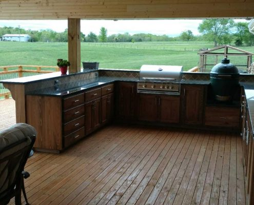 Outside kitchen countertops by Edge Stoneworks