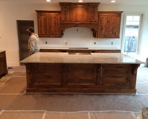 Spacious kitchen area at Edge Stoneworks