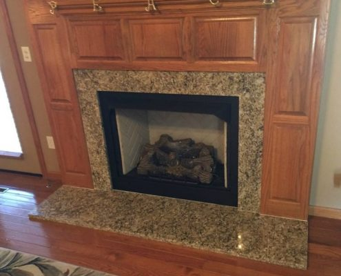 Granite Fireplace at Edge Stoneworks