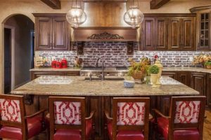 Tyhoon Bordeaux Granite Countertop Island at Edge Stoneworks
