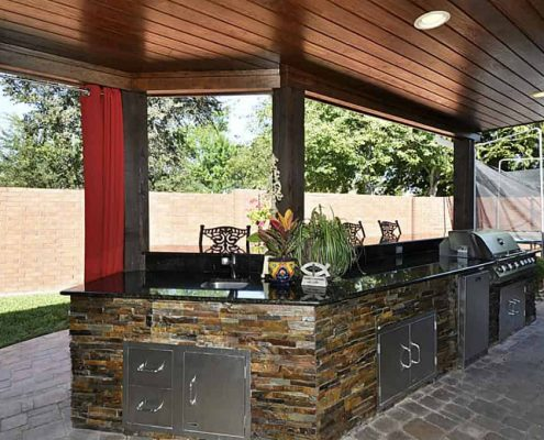 Outdoor granite kitchen uba tuba at Edge Stoneworks