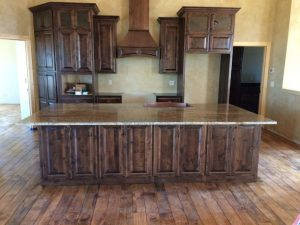 Wooden flooring kitchen at Edge Stoneworks